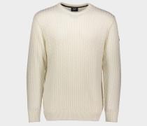Bretagne Pullover mit Zopfmuster aus Wolle