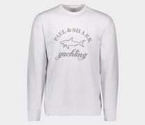 Extrem weiches Stretch-Sweatshirt mit aufgedrucktem reflektierendem Logo