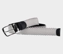Verstellbarer Gürtel aus Stoff und Leder