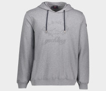 Sweatshirt aus Bio-Baumwolle und Ton in Ton Logo