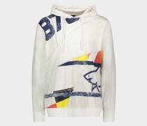Sweatshirt aus Bio-Baumwolle mit aufgedrucktem Segelmotiv