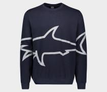 Sweatshirt aus Bio-Baumwolle mit reflektierenden mega SHARK Print