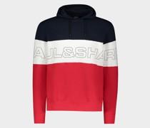 Sweatshirt aus Bio-Baumwolle mit Kapuze und Paul&Shark-Print