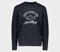 Sweatshirt aus Bio-Baumwolle mit Logo