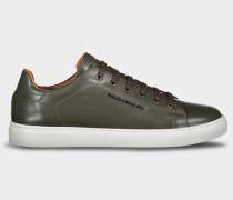 Schuhe aus Leder mit Paul&Shark Metallplatte