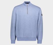 Pullover aus Wolle mit Reißverschluss