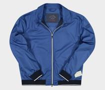 Jacke mit Rändern in Strick und Reißverschluss in Kontrast