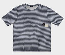T-Shirt aus Baumwolle mit Kontrast-Tasche