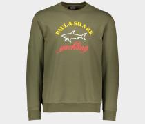 Sweatshirt aus Bio-Baumwolle mit 3-Farben Logo Print
