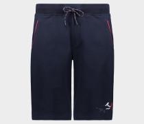Bermuda-shorts aus Bio-Baumwolle mit Logo Stickerei
