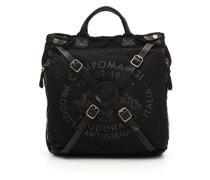Shopper-Tasche aus schwarz + grau Stoff Torino