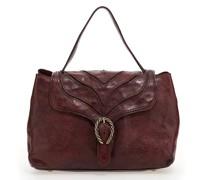 """Handtasche """"Margot"""" aus Leder in Weinrot mit baumrindenähnlichem Dekor"""