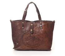 """Shopper-Tasche mit """"Teodorano"""" aufdruck aus Grau Leder"""
