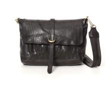 Medium 'Amelia' crossbody bag in black bleached leather