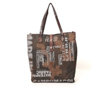 Torrechiara' shopping bag in camouflage canvas