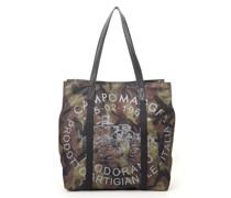 """Shopper mit langen Henkeln aus Segelstoff in Camouflage mit Teodorano-Print aus der Linie """"PortoVenere"""""""