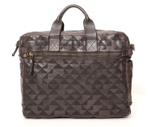 """Aktentasche aus Leder in grau mit gelasertem geometrischem Muster aus der Linie """"Lauro"""""""