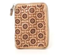 Camelia' wallet in beige leather