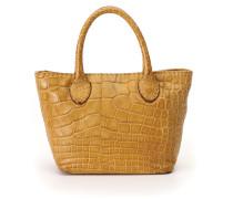 Shopper-Tasche aus alligatorleder und leder