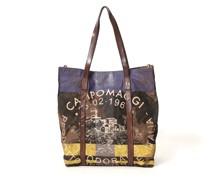 """Shopper mit langen Henkeln aus Canvas in Camouflage mit Teodorano-Print aus der Linie """"Calicanto"""""""