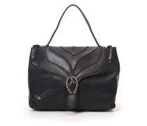 """Handtasche """"Margot"""" aus Leder in Grau mit baumrindenähnlichem Dekor"""