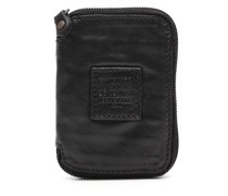Small zip around wallet in black leather