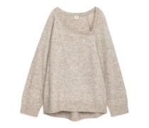 Alpaka-Pullover Mit Asymmetrischem Halsausschnitt