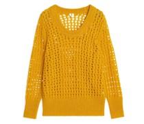 Pullover Aus Wollmischung Mit Spitze