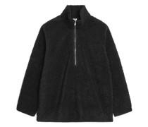 Teddyfleece Pullover Mit Kurzem Reißverschluss