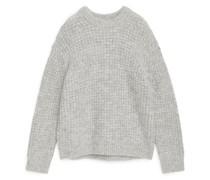 Pullover Mit Waffelmuster, Aus Wolle Und Alpaka