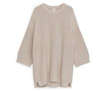 Oversized-Pullover Aus Baumwollmischung