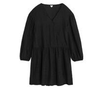 Strukturiertes Seiden-Jacquard-Kleid