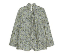 Florale Bluse Mit Knoten