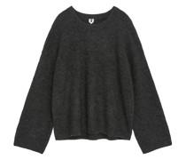 Alpaka-Pullover Mit Ballonärmeln