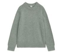 Pullover Aus Schwerem Wollstrick