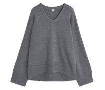 Oversized-Pullover Aus Woll-Nylon-Mix