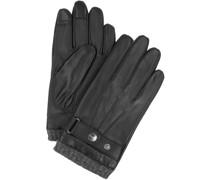Handschuhe Glattleder Schwarz