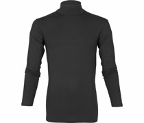 Milton Rollkragen Longsleeve Shirt Schwarz