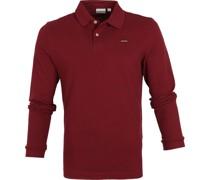 Ebir Longsleeve Polo Shirt Bordeaux