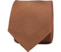 Krawatte Seide Dessin Cognac