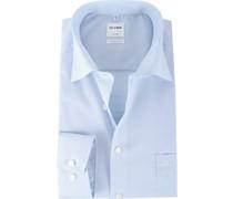 Luxor Hemd Blau Karo Comfort Fit