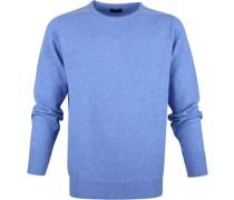 Pullover Lammwolle Blau
