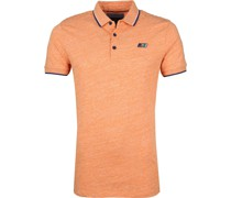 Poloshirt Mouline Jersey Orange
