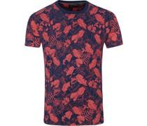 T-Shirt Blumen Rot