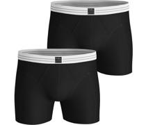 Boxershorts 2er-Pack Original Solid Schwarz