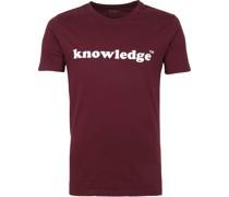 Knowledge Cotton Apparel T-shirt Violett