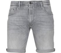 V18 Rider Jeans Short Grau
