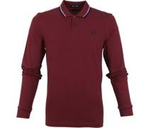 LS Poloshirt Aubergine Rot M3636