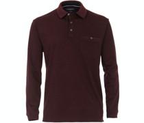 Poloshirt LS Bordeaux