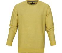 Pullover O-Halsausschnitt Gelb
